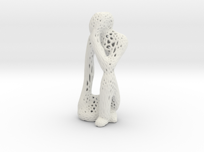 Thinking Man Vornoi style 3d printed