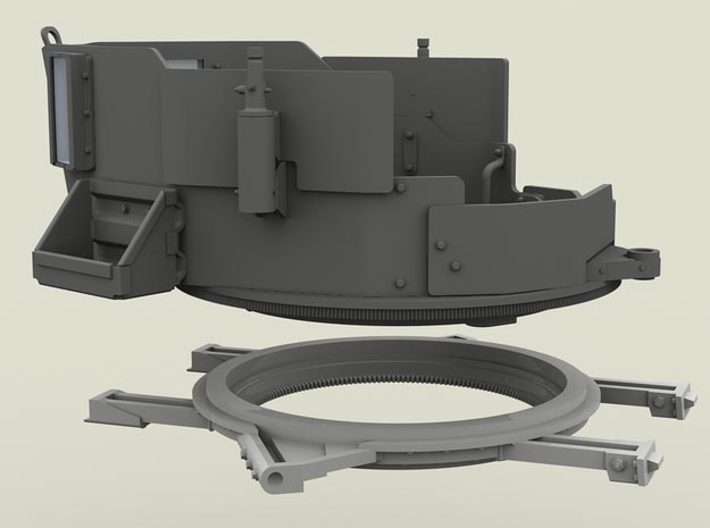 1/35 SPM-35-023 turret ring 3d printed