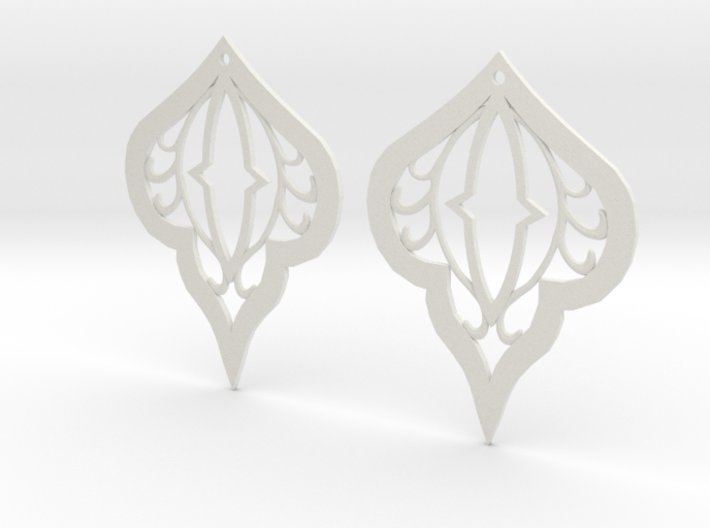 Earring Filigree 3d printed