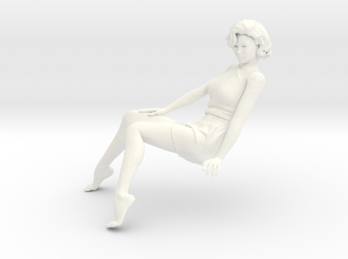 Lady sitting-013 scale 1/24 Passed 3d printed