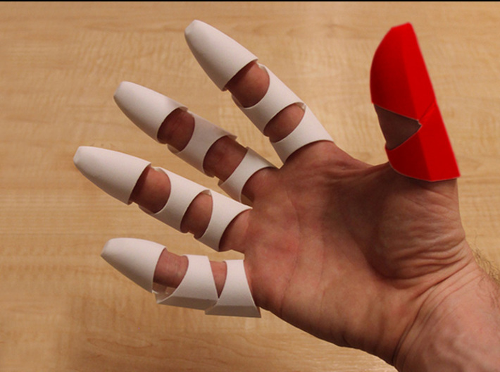 Iron Man Thumb Finger 3d printed