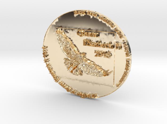 Queen Elizabeth II - Royal NZ Gold Reserve 2015 Co 3d printed