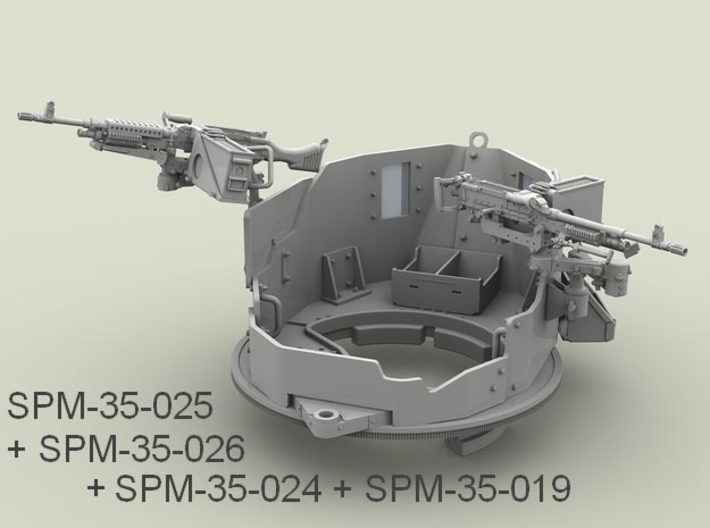 1/35 SPM-35-025 m240 machine gun 3d printed