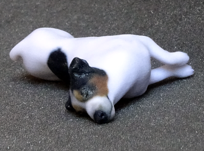 Laying Jack Russell Terrier 3 3d printed