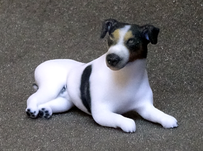 Laying Jack Russell Terrier 2 3d printed