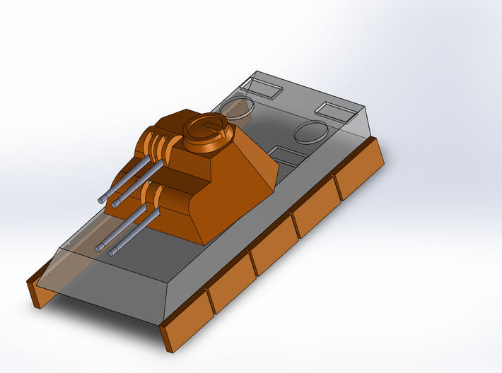 Flakpanther-Turret 4x MG151 1/285 6mm 3d printed
