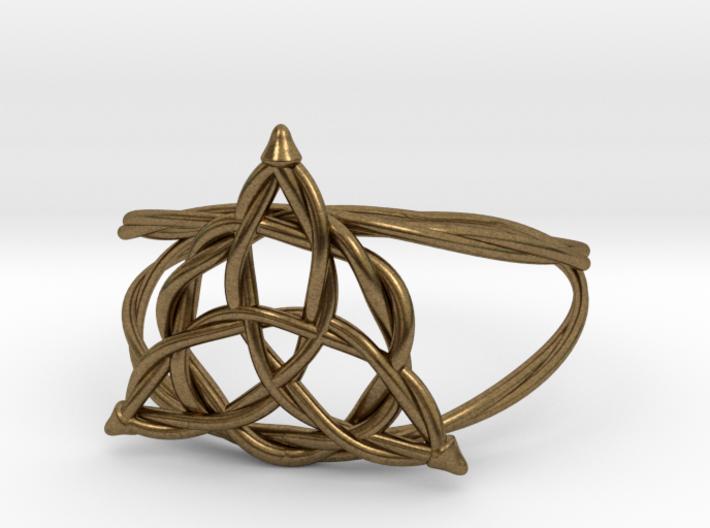 Woven triquetra (choose size) 3d printed