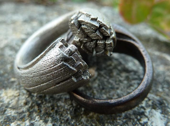 Cracking Wood ring - Size8 3d printed