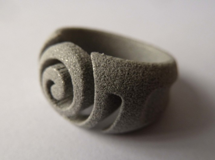 Spiral ring - Size 8 3d printed