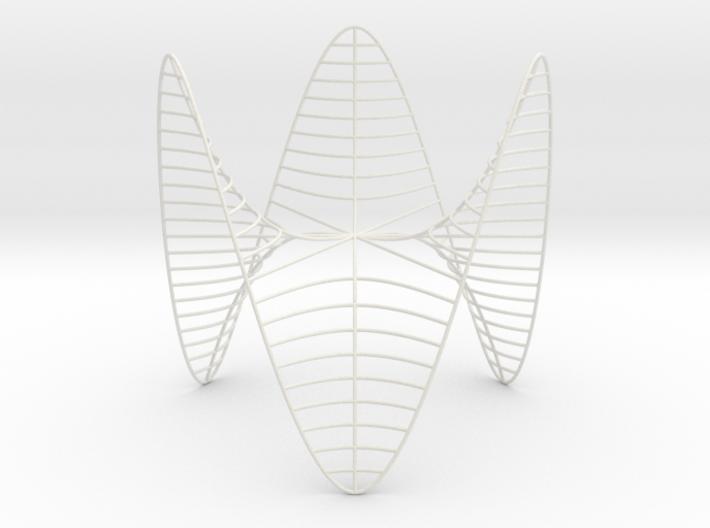 Monkey Saddle -- Level Curves 3d printed