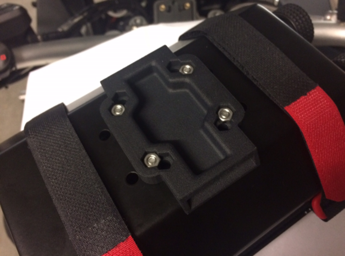 Cradle Adapter for Garmin Zumo 660 3d printed Installed on a roadbook holder