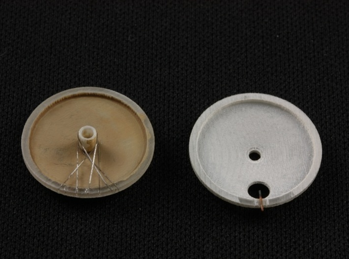 1/32 Pfalz D.III/D.IIIa Tireless Wheels (2 pack) 3d printed Suggested scratch detail -- spokes and filler neck.
