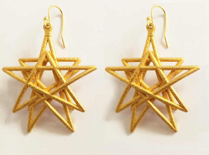 Reach for the Stars Earrings 3d printed