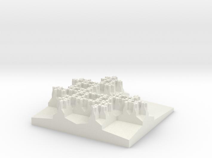 Three Squares Developing Fractal Gasket 3d printed
