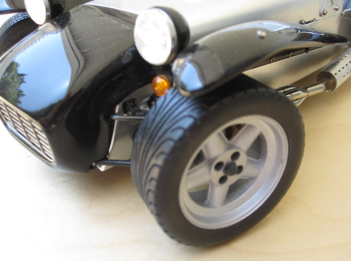 Caterham Tire Rr x2 (1-12) Black Acrylic  3d printed As fitted to Tamiya Caterham