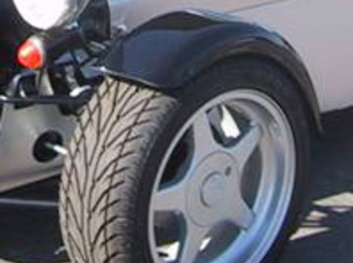 Caterham 5Spoke x3 (1-12) Frosted Ultra Detail 3d printed