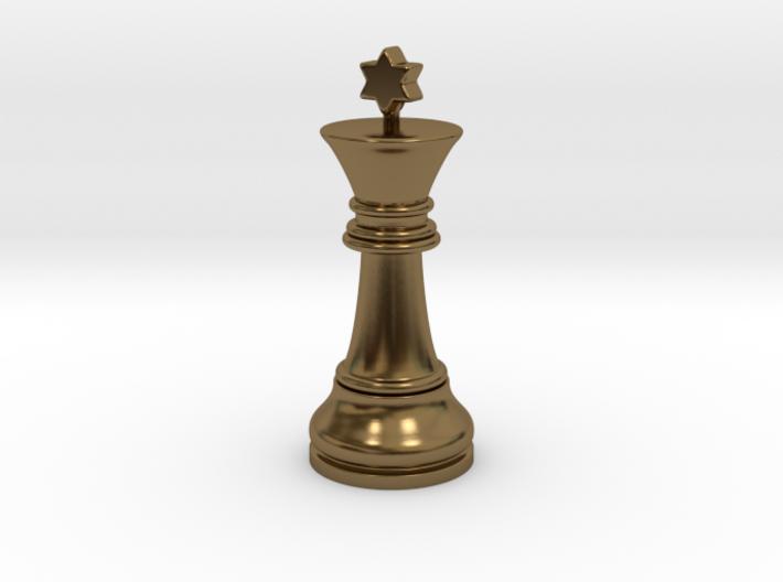 Single Chess King Star Big   Timur Prince Vizir 3d printed