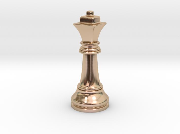 Single Chess Queen Big Square   Timur Ferz 3d printed