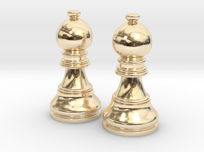 Pair Bishop Chess Big | Timur Picket Taliah 3d printed