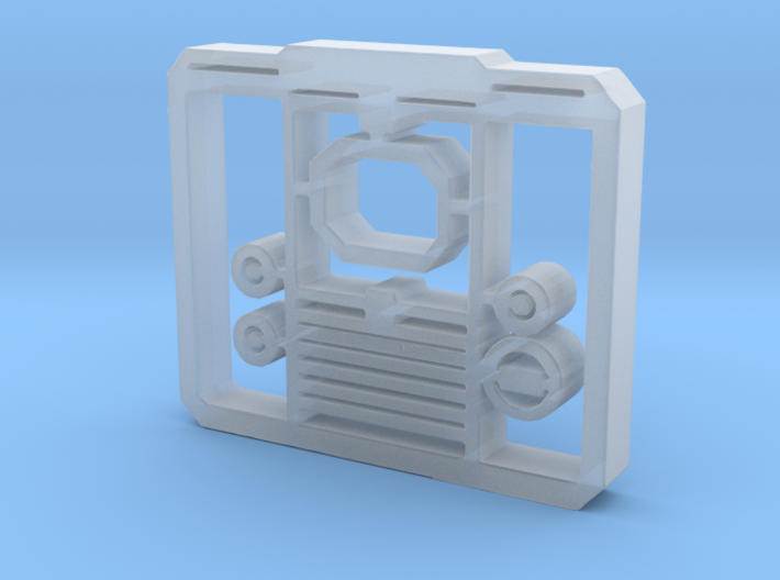 TV Face Plate facsimile - hollow 3d printed