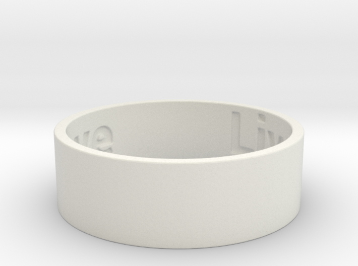 Live Laugh Love Ring Size 9 3d printed