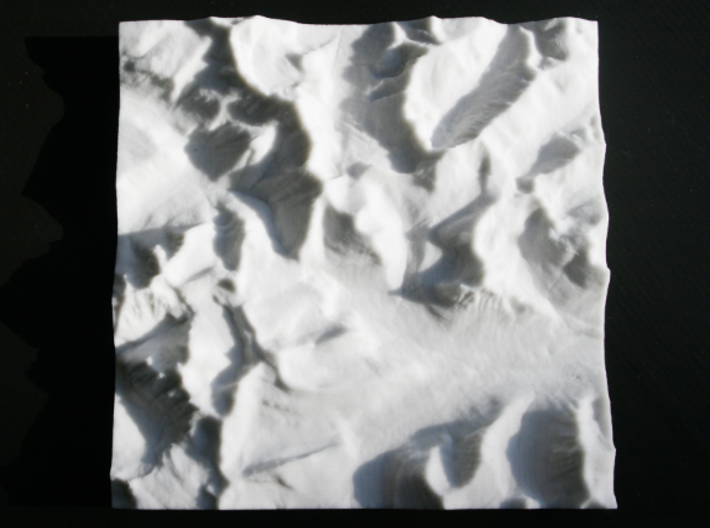 6'' Glacier National Park, Montana, USA, Sandstone 3d printed Overhead view with North up