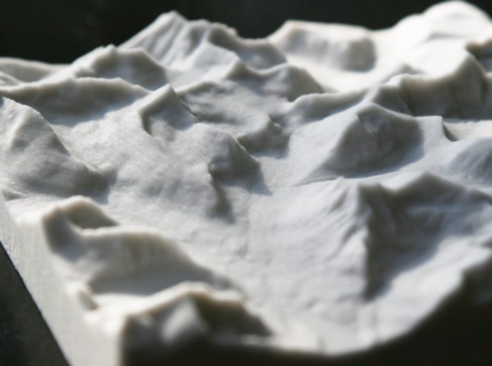 6'' Glacier National Park, Montana, USA, Sandstone 3d printed Close-up view over St. Mary Falls toward Logan Pass
