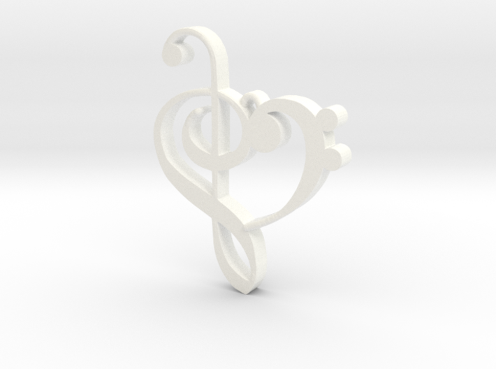 G-clef Heart Pendant 3d printed