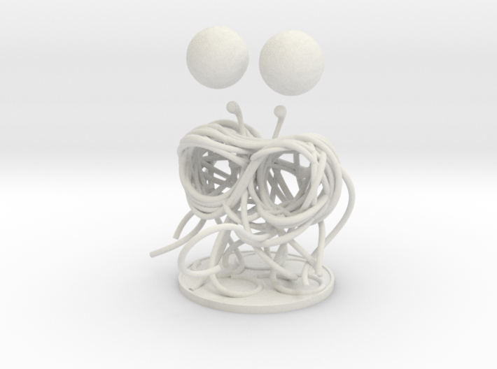 Flying Spaghetti Monster miniature 3d printed
