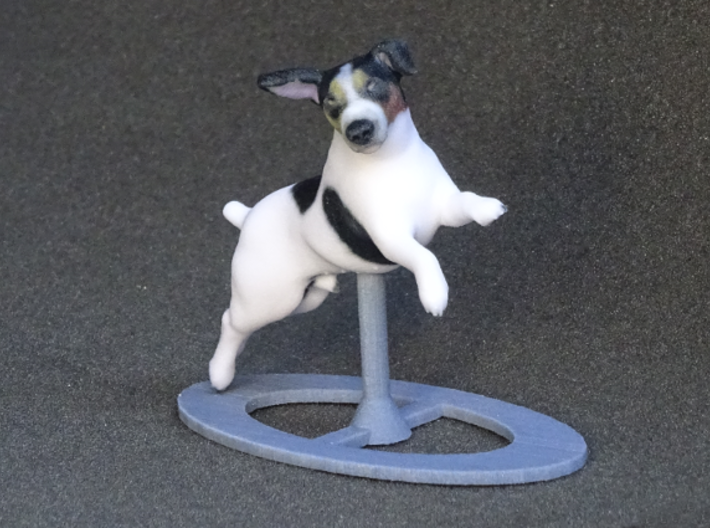 Jumping Up Jack Russell Terrier 2 3d printed
