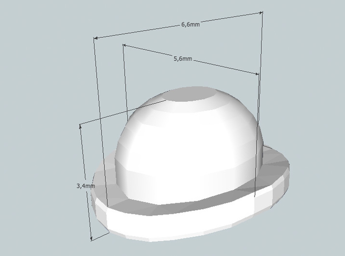 28mm Bowler hats v2 (x20) 3d printed Hat size
