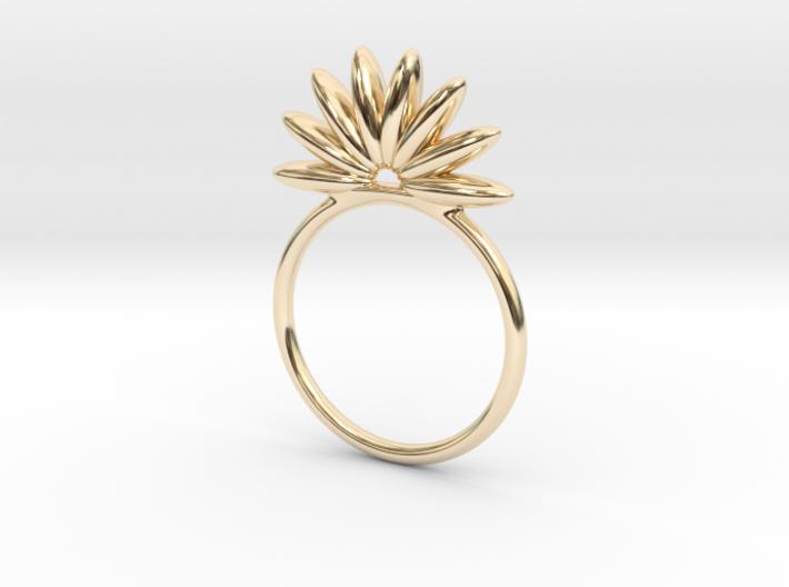 Demi Flower Ring 3d printed