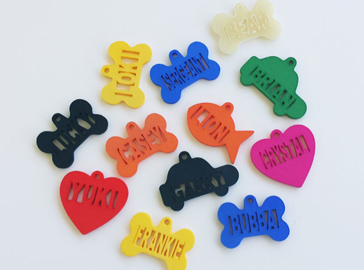 Heart Pet ID Tag - Crystal 3d printed Color sample