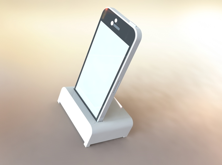IPhone Desk Stand 3d printed iPhone 5