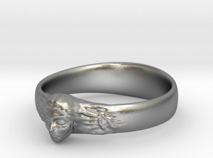 Ring Womans Face 3d printed