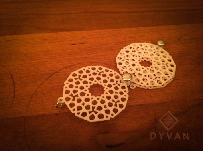 Pendant with mosaic design 3d printed