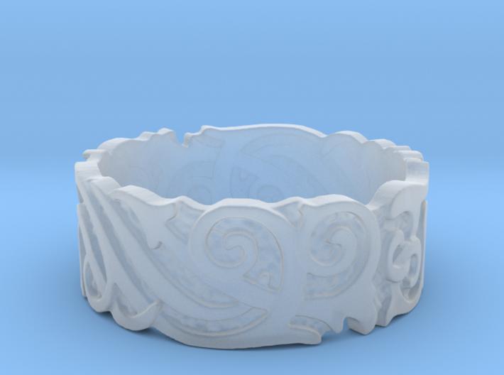 Ocean Kelp Forest Ring 3d printed