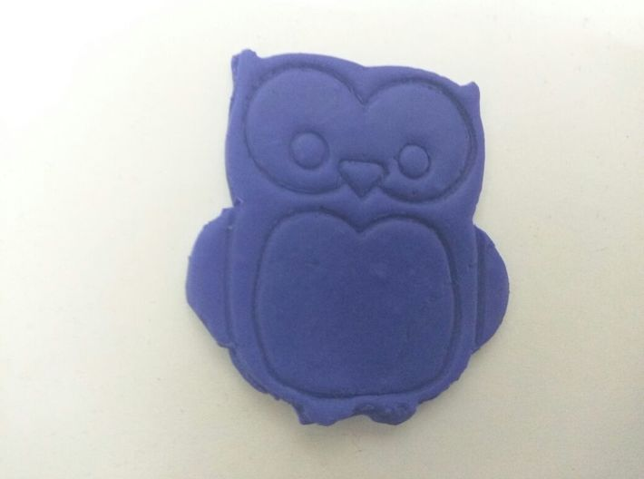 Simple Owl Cookie-Cutter 3d printed