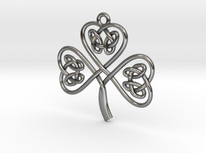 Shamrock Knot Pendant 3d printed
