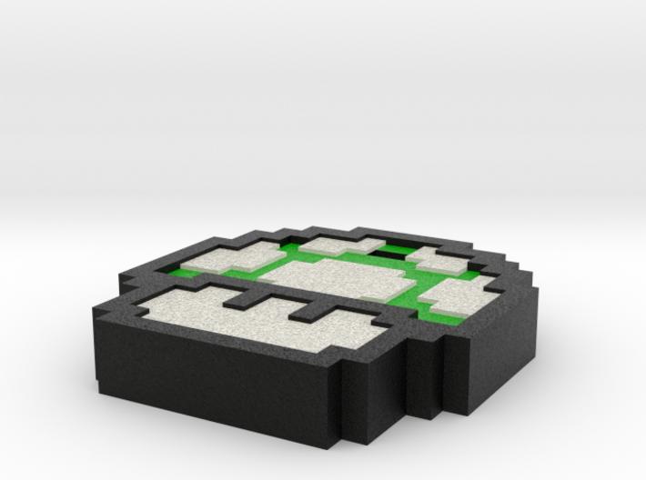 Mario Shroom Keychain 3d printed