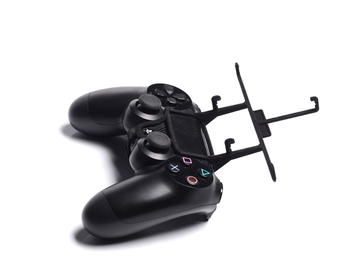 PS4 controller & Spice N-300 3d printed Without phone - A Samsung Galaxy S3 and a black PS4 controller
