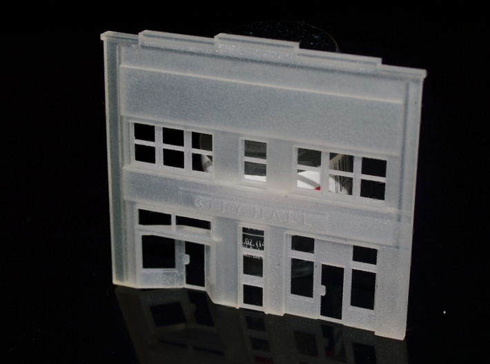N-Scale City Hall Facade 3d printed Production Sample
