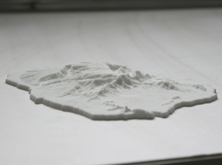 Kaua'i, 6'' - Navigator Series 3d printed Oblique view of the model, showing the 2x vertical exaggeration