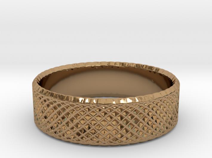 0208 Lissajous Figure Ring (Size4.5, 15.2mm) #014 3d printed