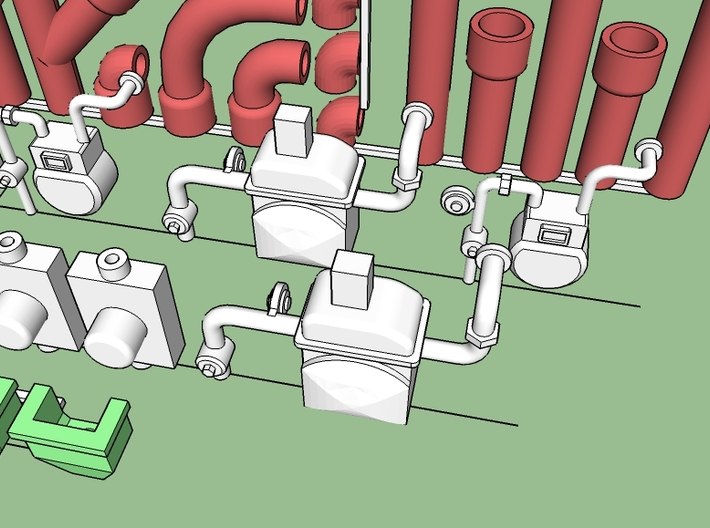 Structure Exterior Wall Details #1 3d printed Gas meters