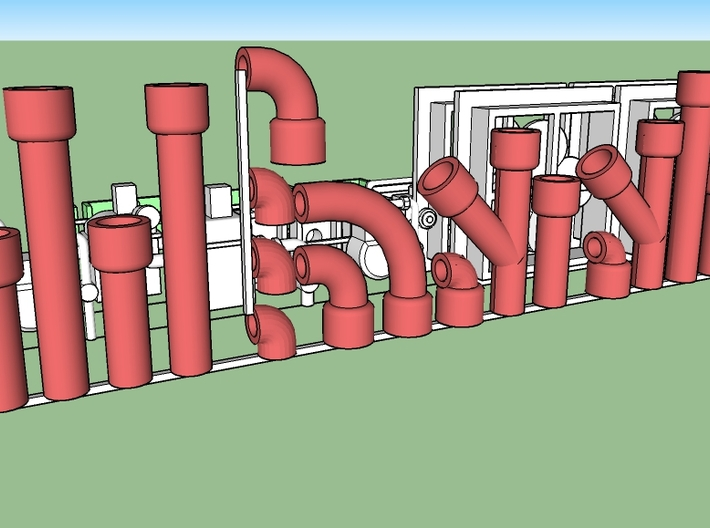 """Structure Exterior Wall Details #1 3d printed 8"""" pipes, hollow, and can be assembled in many configurations"""