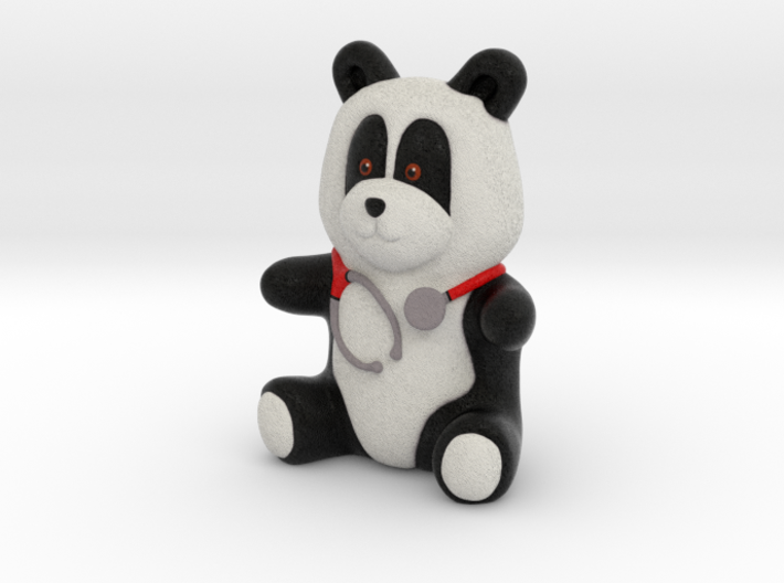 Dr Panda (8cm) 3d printed