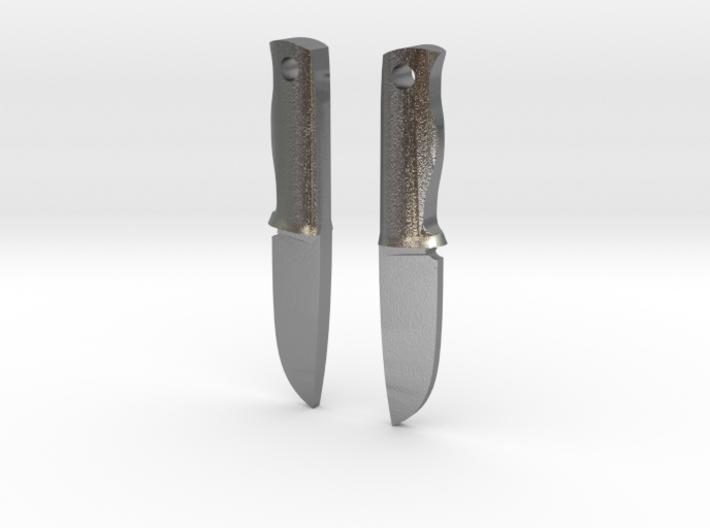 Bushcraft knives earrings 3d printed