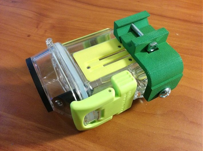 Contour 3330 Waterproof Case Picatinny Mount Adapt 3d printed