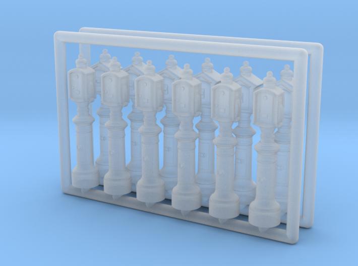 N Scale (1:160) Emergency Call Boxes 3d printed